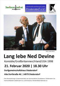 """Filmabend in Diedersdorf: """"Lang lebe Ned Devine"""" Komödie/Großbritannien/Irland/USA 1998 @ Dorfgemeinschaftshaus Diedersdorf"""